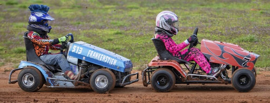 How to make a racing lawnmower